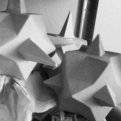 Atelier coulisse sculpture sechage
