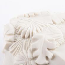 Porcelaine gravure decor feuillage