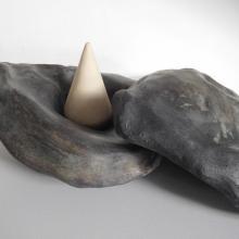 Sculpture Mitra - pièce unique -grès